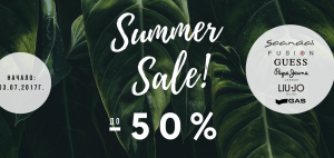 Summer SALE up to -50%!