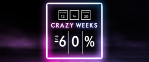 Crazy Weeks - 13.11. - 30.11.2020 up to 60% sale